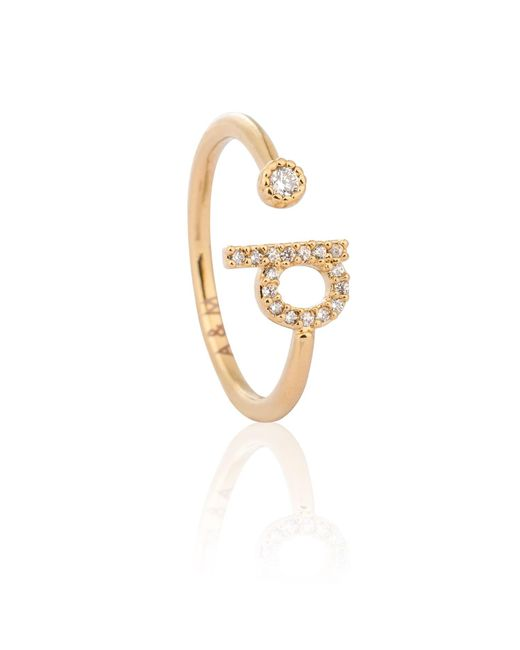 Astrid & Miyu | Metallic Gold Initial D Ring | Lyst