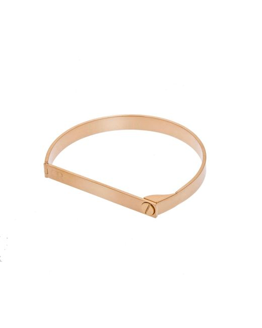 Opes Robur - Metallic Gold Shackle Cuff Bracelet - Lyst