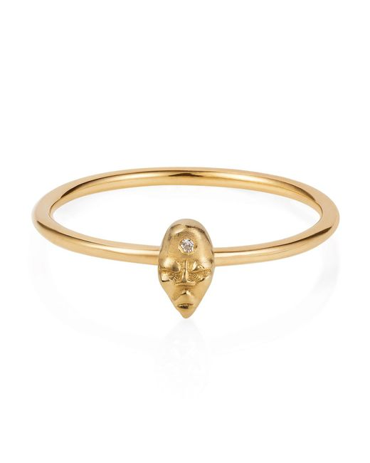 Lee Renee - Metallic Tiny Voodoo Erzulie Ring Diamond & Gold Vermeil - Lyst