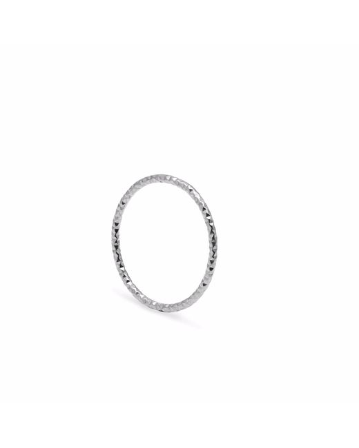 Myia Bonner | Metallic Silver Skinny Diamond Faceted Stacking Ring | Lyst