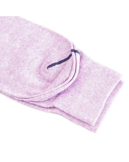 40 Colori Purple Melange Linen Socks for men