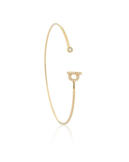 Astrid & Miyu - Metallic Gold Initial Q Bangle - Lyst