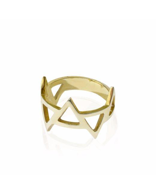 Sally Lane Jewellery - Metallic Ladder Of Life Gold Geometric Ring - Lyst