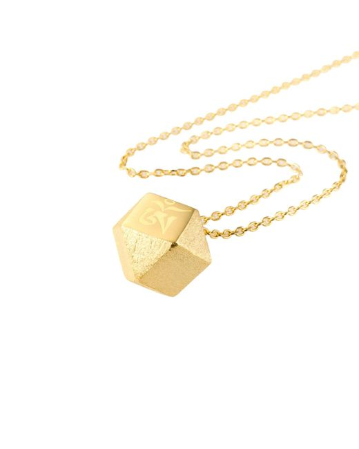 Ona Chan Jewelry | Metallic Mantra Cube Necklace Gold | Lyst