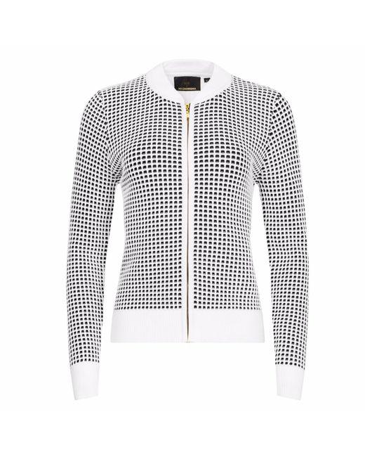 NY CHARISMA | White & Black Two-tone Waffle Pattern Jacket | Lyst