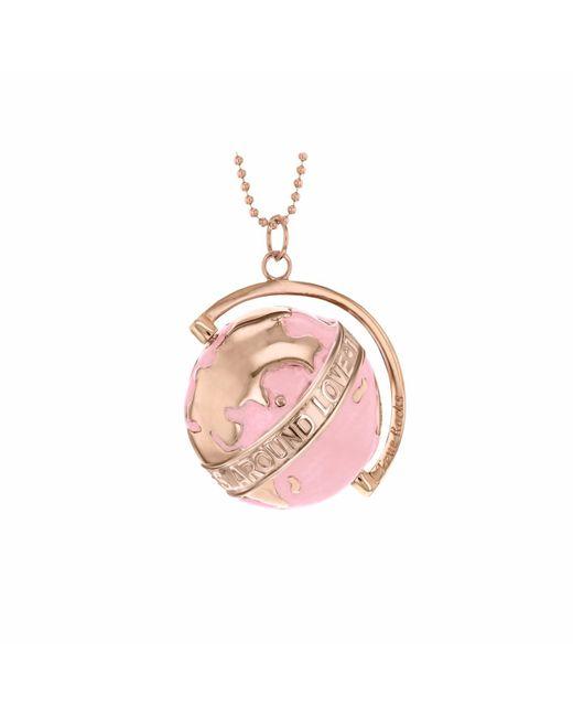 True Rocks - Pink Medium Globe Necklace Rose Gold & Blush Enamel - Lyst