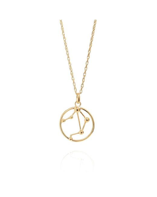 Yasmin Everley Jewellery - Metallic Libra Astrology Necklace In 9ct Gold - Lyst