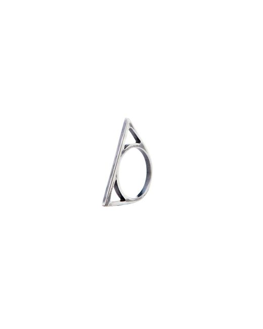 Glenda López | Metallic The Silver Triangle Ring | Lyst
