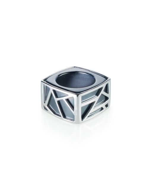 Ona Chan Jewelry | Gray Square Cocktail Ring Hematite | Lyst
