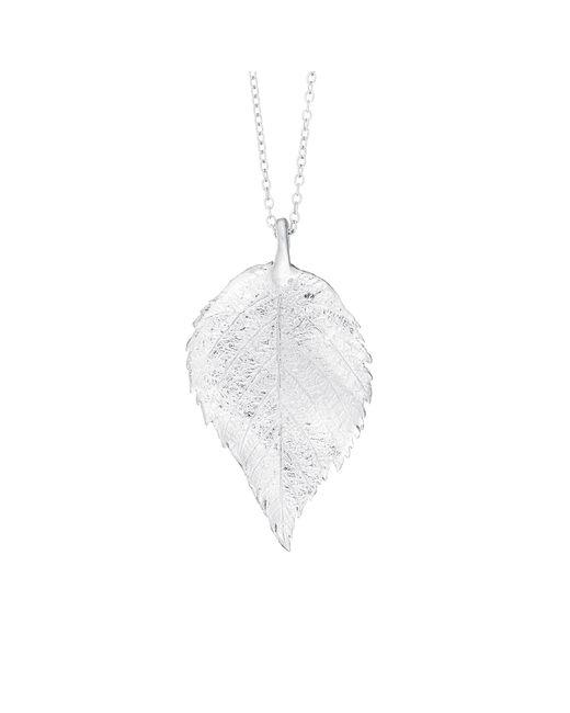 Chupi - Metallic Maxi Raspberry Leaf Necklace Silver - Lyst