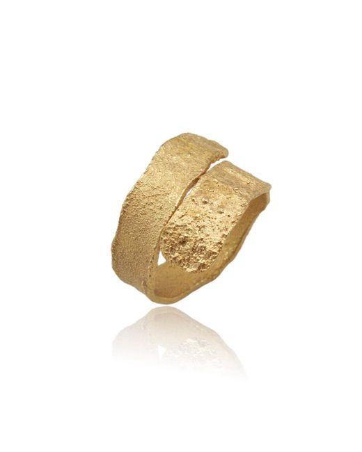 Karolina Bik Jewellery - Metallic Algae Ring Gold - Lyst