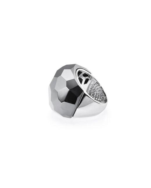 Ona Chan Jewelry | Gray Lattice Round Cocktail Ring Hematite | Lyst