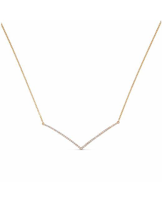 Cosanuova - Metallic Chevron Diamond Necklace 18k Rose Gold - Lyst