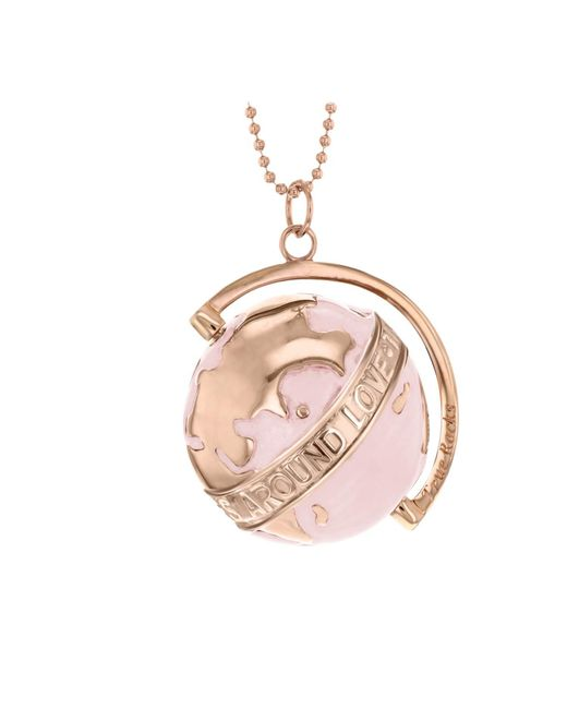 True Rocks - Medium Globe Necklace Rose Gold & Pink Enamel - Lyst