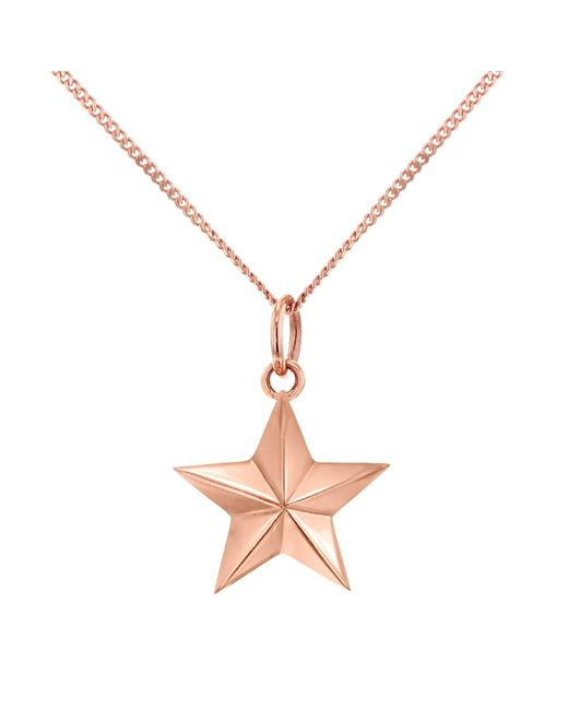 True Rocks - Metallic Large Star Necklace Rose Gold - Lyst