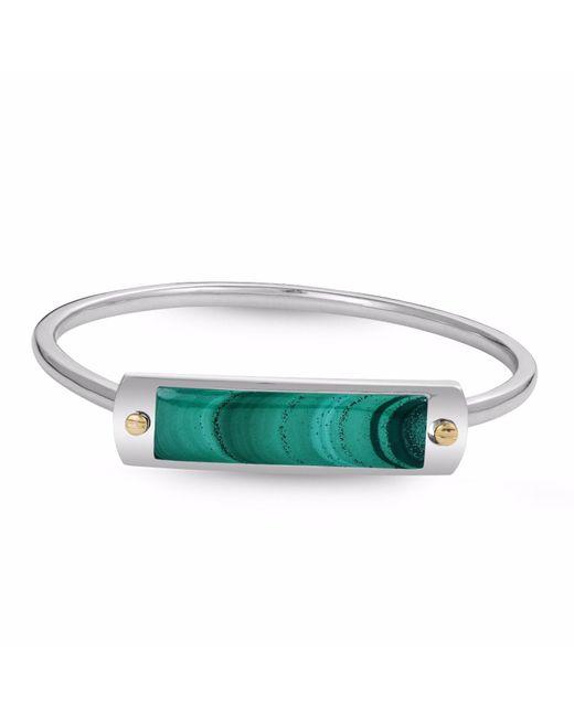 LMJ - Green Malachite Big Id Cuff Bracelet - Lyst