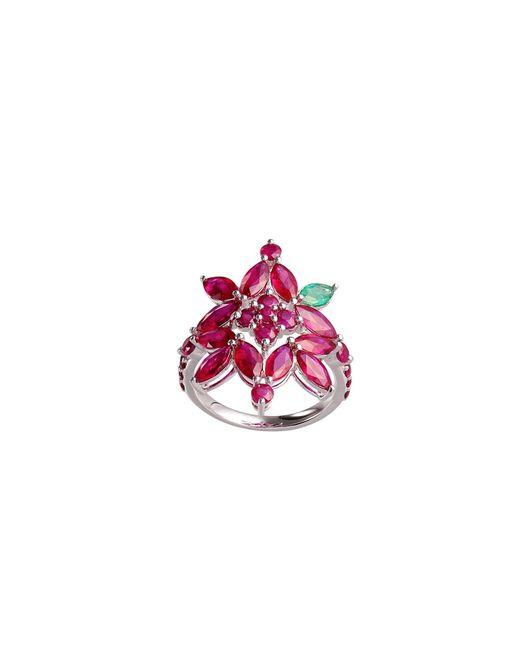 Joana Salazar | Red Ruby Blossom Ring | Lyst