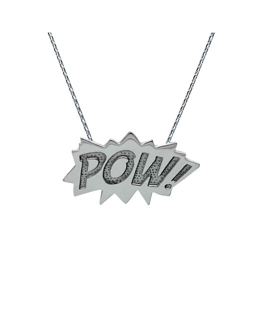 Edge Only | Metallic Pow Pendant Large Long In Silver | Lyst