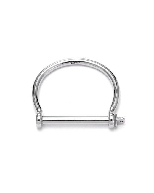 Opes Robur - Metallic Mens Silver Screw Cuff Bracelet - Lyst
