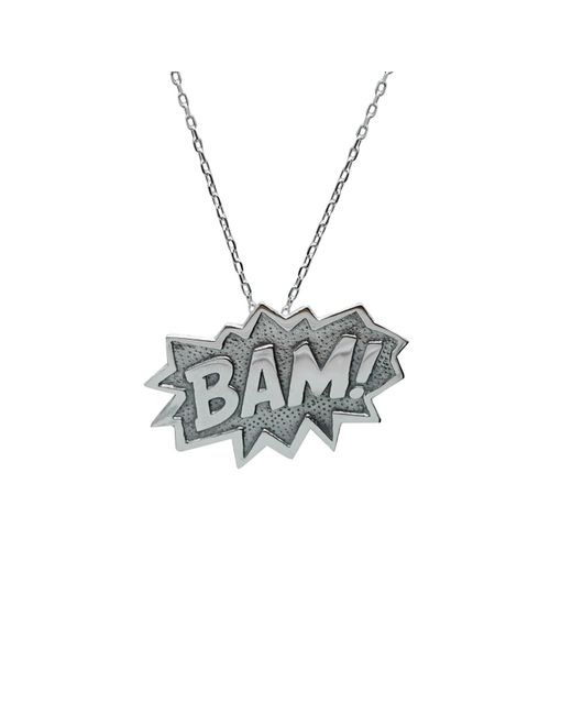 Edge Only | Metallic Bam Pendant Extra Large In Silver | Lyst