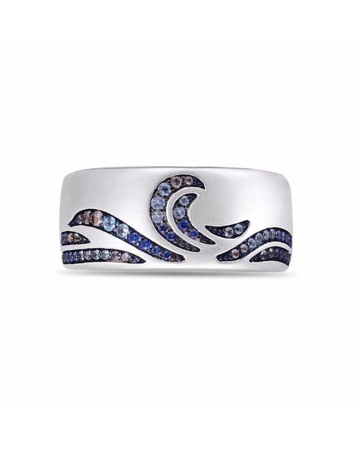 LMJ - Metallic Surf's Up Stone Band Ring for Men - Lyst