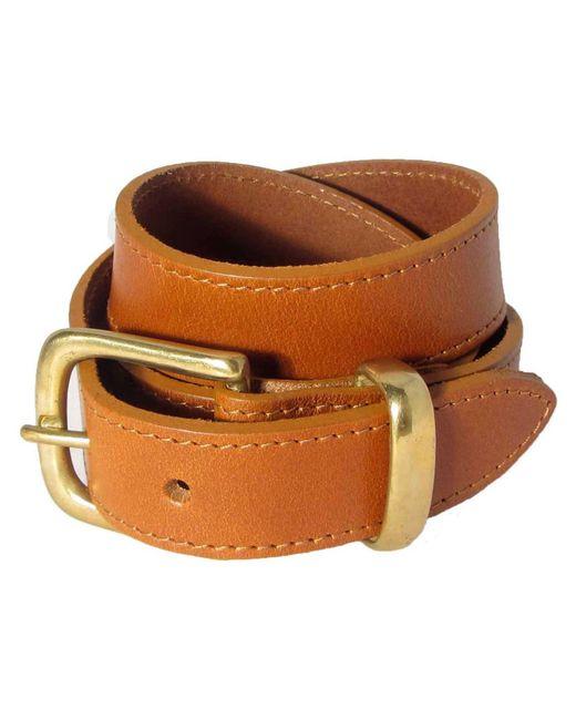 N'damus London - Brown The Orion Tan Belt Brass Buckle for Men - Lyst