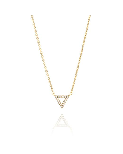 Astrid & Miyu | Pink Tuxedo Triangle Necklace Gold | Lyst