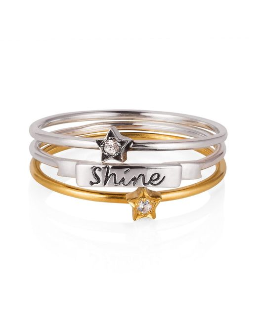 Lee Renee   Multicolor 'shine Like A Star' Stack Ring   Lyst