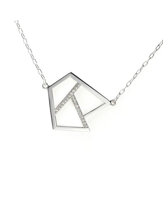 Ona Chan Jewelry | Metallic Triple Lattice Necklace With Sapphire Silver | Lyst