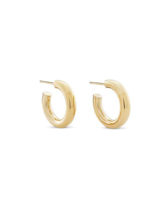 Monarc Jewellery - Metallic Little Chubbies Hoops Gold Vermeil - Lyst