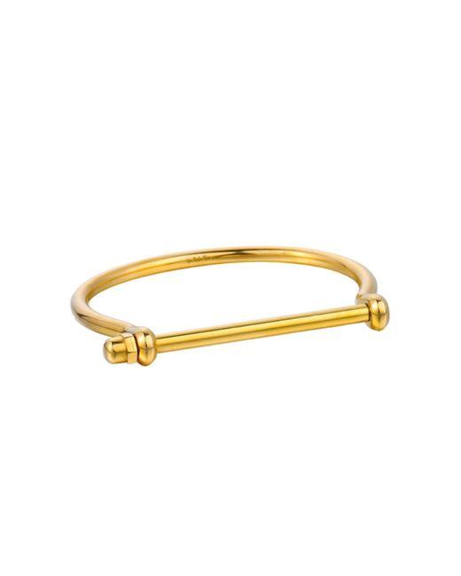 Opes Robur   Metallic Mens Gold Signature Cuff   Lyst