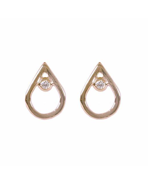Matthew Calvin - Metallic Diamond Mini Point Studs Gold - Lyst