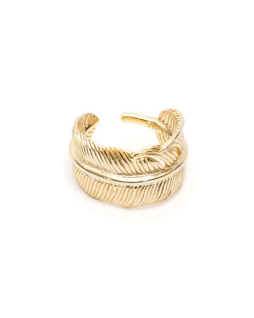 Serge Denimes - Metallic Gold Feather Ring for Men - Lyst