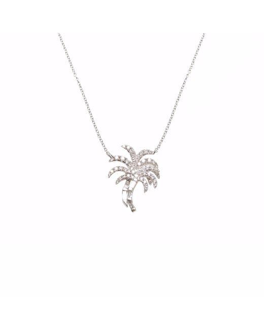 Ri Noor - Metallic Palm Tree Diamond Necklace - Lyst