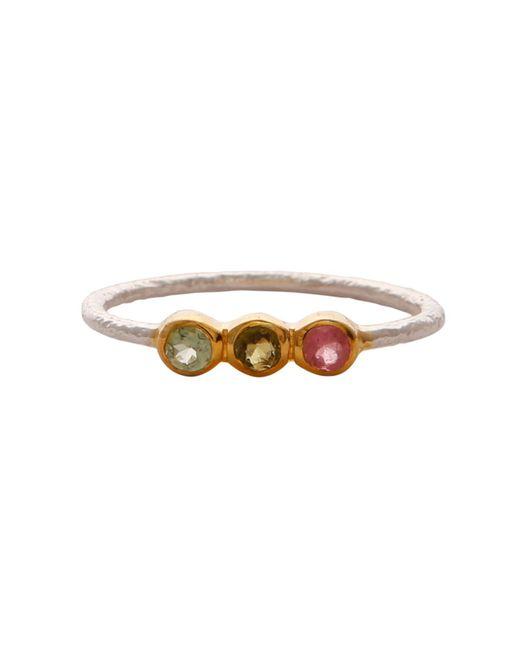Carousel Jewels - Metallic Delicate Tourmaline Trio Ring - Lyst