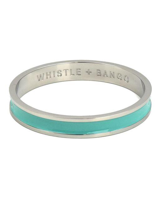 Whistle & Bango - Metallic 'w' Alphabet Bangle Mint - Lyst