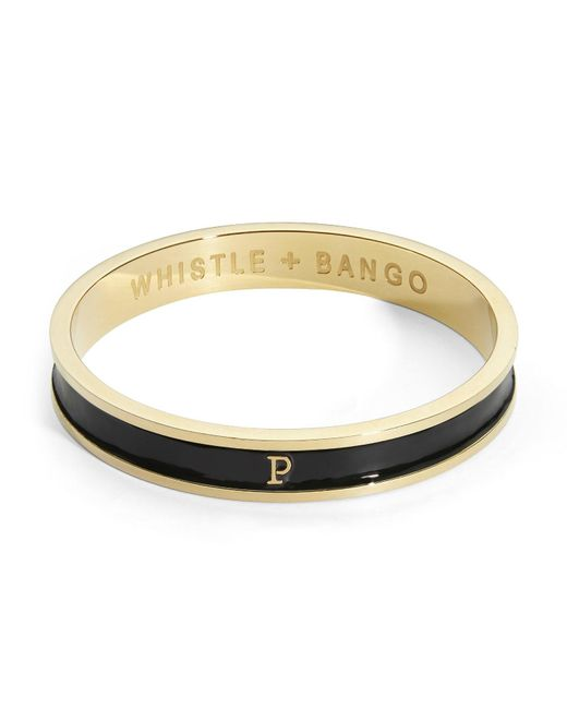 Whistle & Bango - Multicolor 'p' Alphabet Bangle Black - Lyst