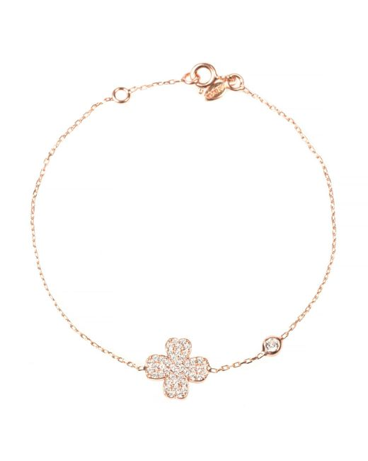 Latelita London | Multicolor Lucky Clover Bracelet Rosegold | Lyst
