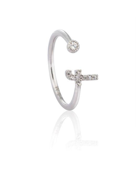 Astrid & Miyu | Metallic Silver Initial F Ring | Lyst