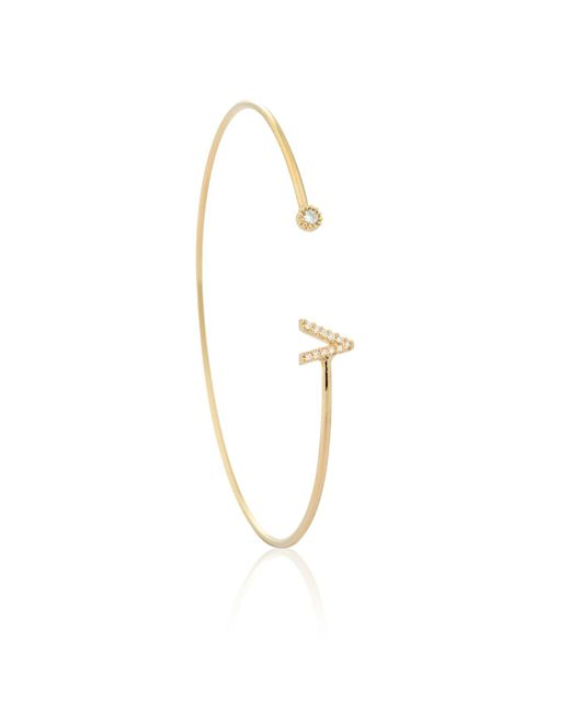 Astrid & Miyu | Metallic Gold Initial V Bangle | Lyst