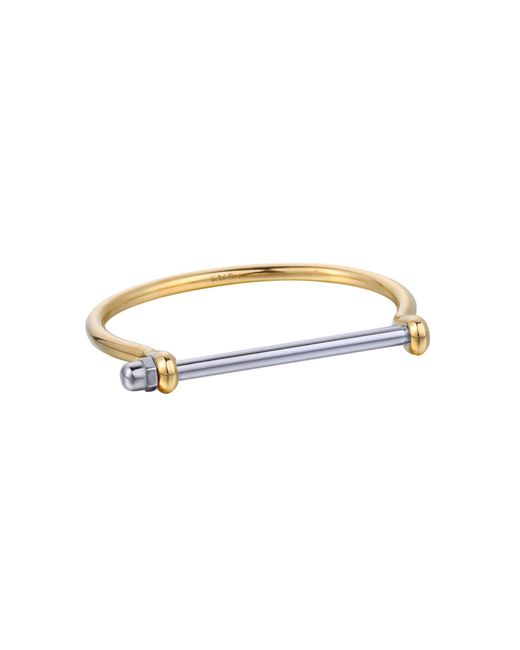 Opes Robur - Metallic Gold & Silver Cuff Bracelet - Lyst