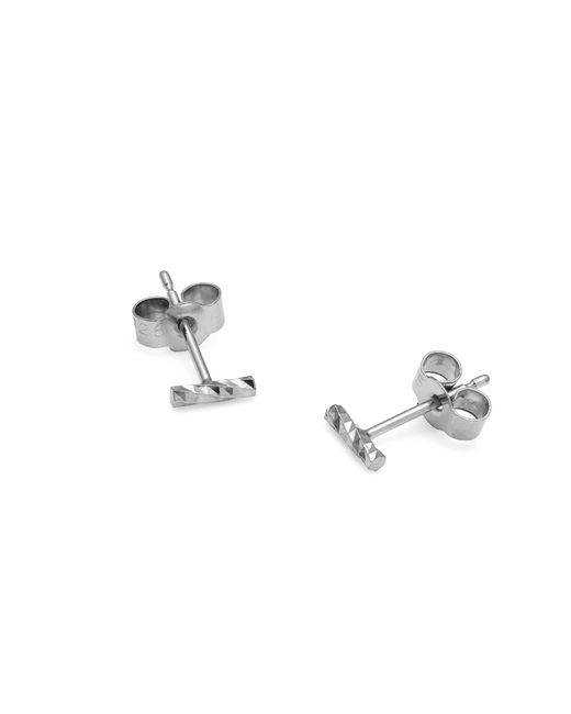 Myia Bonner | Metallic Silver Mini Diamond Bar Stud Earrings | Lyst