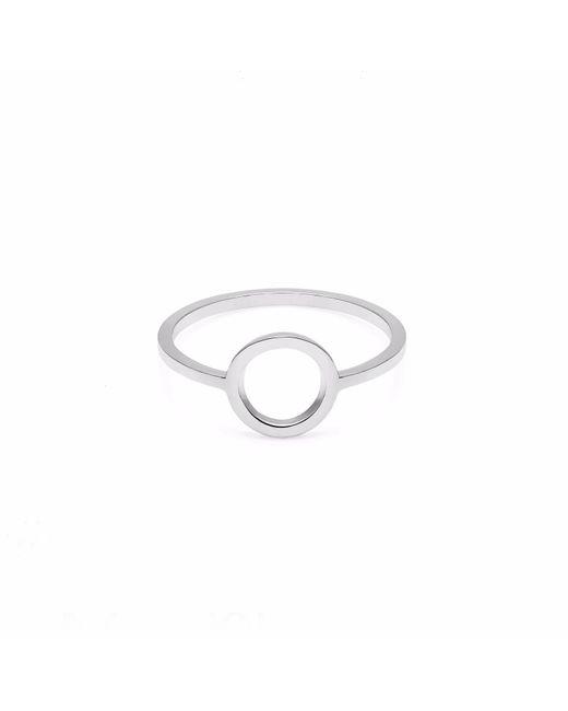 Myia Bonner - Metallic Silver Circle Ring - Lyst