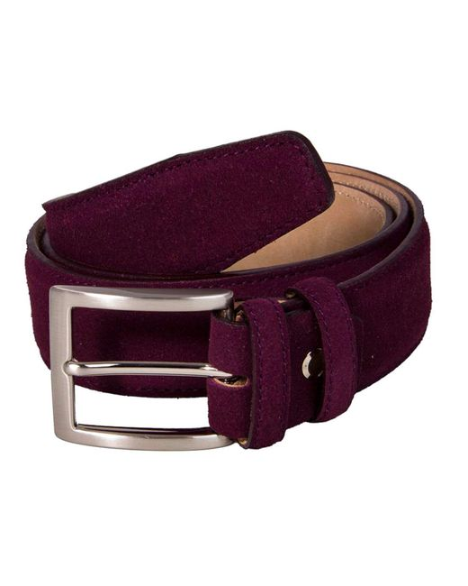 40 Colori Red Burgundy Trento Leather Belt for men