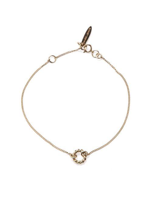 Isabel Lennse - Metallic Xs Twisted Circle Gold Bracelet - Lyst