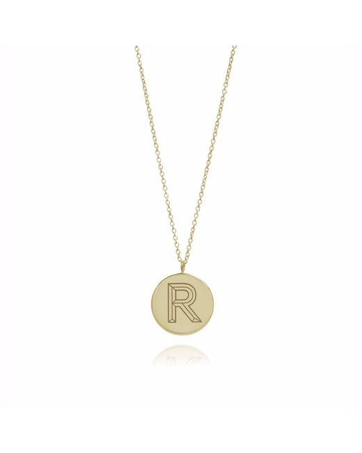 Myia Bonner - Metallic Gold R Facett Initial Necklace - Lyst