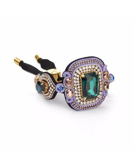 Izabela Felinski | Multicolor Stylish Emerald Bracelet | Lyst