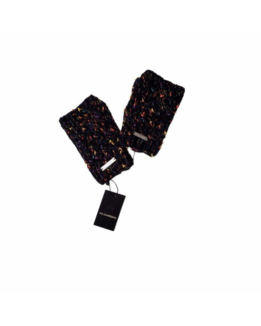 NY CHARISMA - Black Hand Knitted Confetti Space Dyed Cables Gloves - Lyst