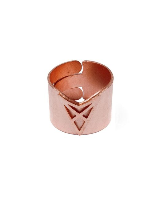 Dutch Basics - Metallic The Hef Adjustable Broad Ring Rose Gold - Lyst