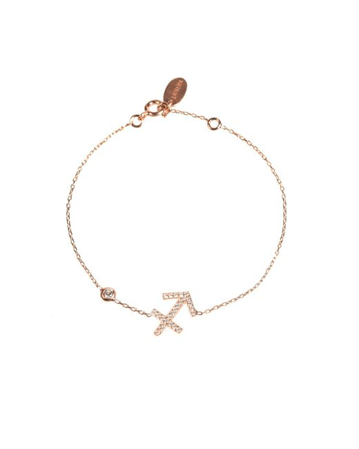 Latelita London - Metallic Zodiac Bracelet Rosegold Sagittarius - Lyst